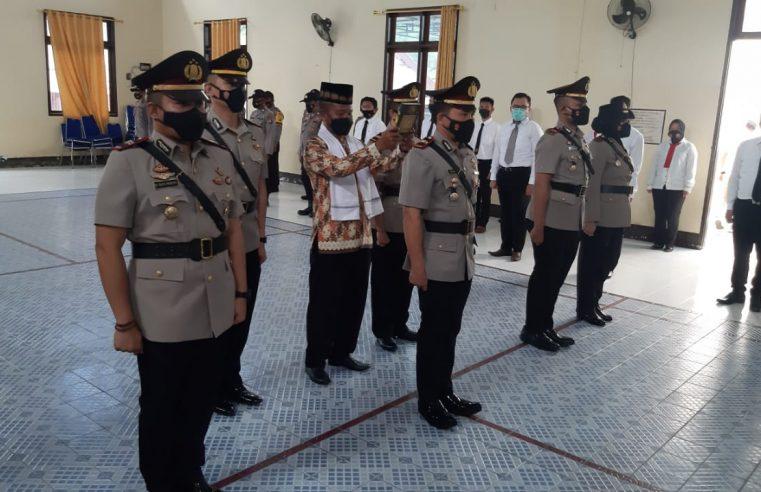 Kapolres Gorontalo Kota Pimpin Sertijab Kasat Narkoba dan Dua Orang Kapolsek