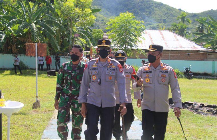 Kapolda Gorontalo Tinjau Gerai Vaksin Di Kabupaten Gorontalo, Ajak Masyarakat Patuhi Prokes