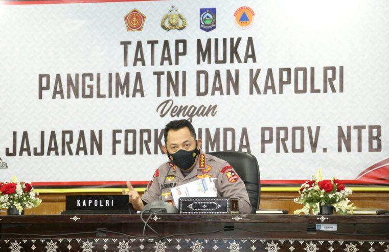 Kapolri Jendral Listyo Sigit Prabowo Ingatkan Penurunan Level di NTB Harus Diimbangi Prokes yang Ketat