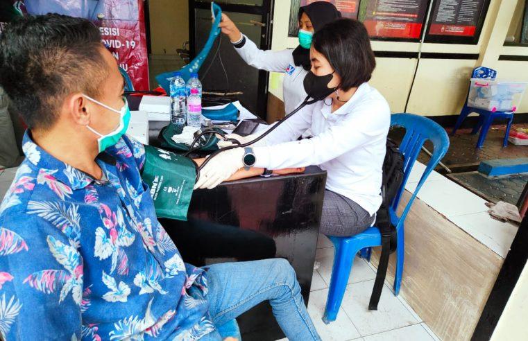 Polsek Kota Timur Gorontalo Gelar Vaksinasi Masal Untuk Masyarakat